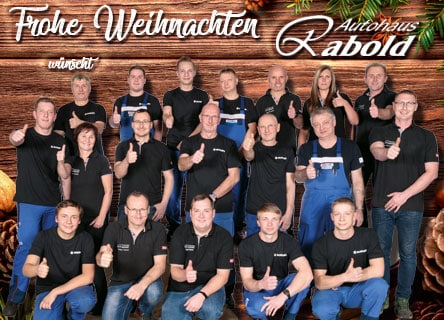 Autohaus Rabold wünscht Frohe Weihnachten.