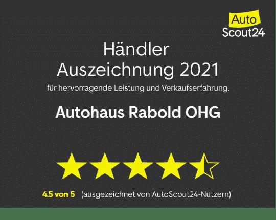 Publikumspreis von AutoScout24 für Autohaus Rabold OHG